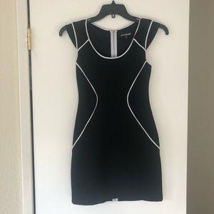 Express Black and White Bodycon Dress, Size 2